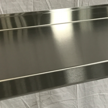 stainless steal flat shelf